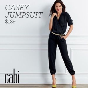 CABI Casey Jumpsuit Romper 3/4 Sleeves Wrap Top M